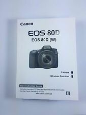 Canon EOS 80D Genuine Instruction Owners Manual Book Original NEW