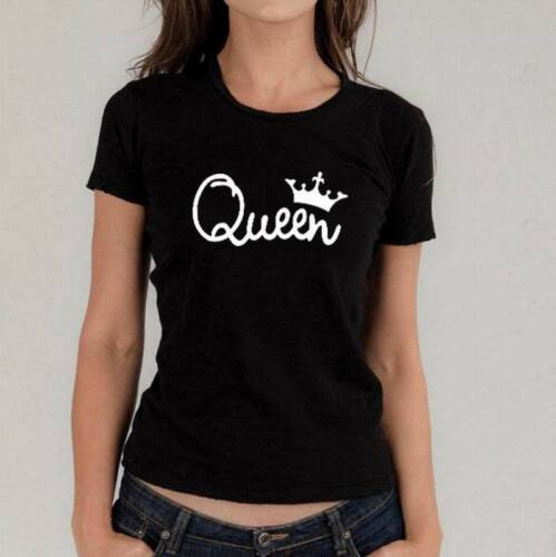 2019 Couple T-Shirt Crown King And Queen Love Matching Summer Unisex Tee Tops
