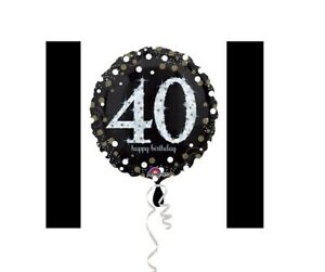 Image Is Loading 40th Birthday Decorations Party Supplies 40 Yrs Old