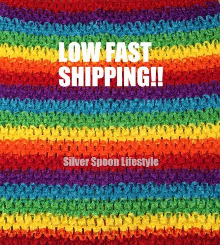 "9/"" 10/"" Unlined USA Seller Rainbow Stripe Crochet Tutu Tube Top 6/"" 8/"""