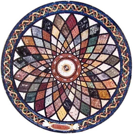 Handmade Decorative Medallion wall floor Marble Mosaic Art Stone Tile Decor.