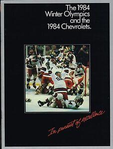 1984 Chevy Olympique Brochure-Programme - Camaro-Corvette -{ Hockey ? 1980 } hH1NWOiv-07160422-167652705