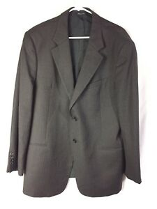 Armani-Collezioni-Blazer-Jacket-Brown-Red-Pinstripe-Italy-44-Reg-Suit-Coat