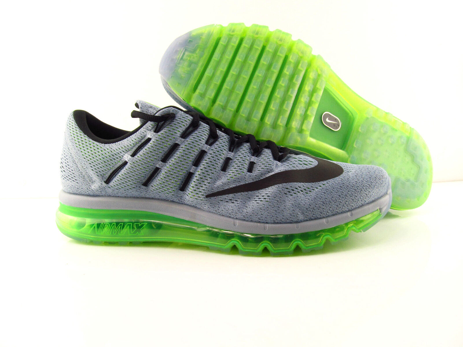 Nike Air Max 2016 Grey Electric Green Running New US_6 Eur 38.5