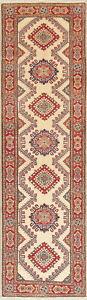 Geometric Kazak Oriental Runner Rug Hand-Knotted Wool 3x10 NEW Pakistani Carpet