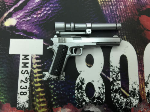 1 6 Hot Toys Terminator T-800 Pistol with Scope MMS238 US Seller