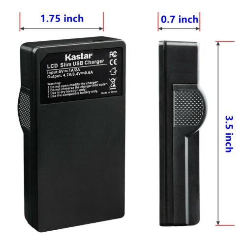 Kastar LP-E8 LPE8 Battery LC-E8 Charger for Canon T4i EOS Canon Rebel T5i Camera