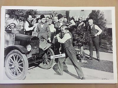 "12 By 18"" Black & White PICTURE Laurel and Hardy Model T Touring movie Scene"