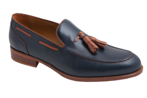 Mens Tassel Loafers Shoes Leather Blue Oxblood Brown UK Size 6 7 8 9 10 11 Spain