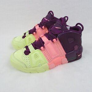 Nike-Air-More-Uptempo-GS-AV8237-800-Citron-Pink-Purple-Girls-6-5Y-Eur-39