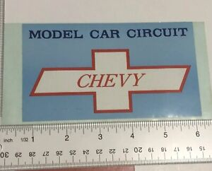 Vintage-Chevy-Model-Circuit-Sticker-Decal-Impala-Corvette-Chevrolet-Camaro-70-80