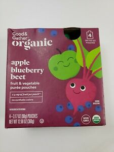 Good & Gather Organic Apple Blueberry Beet 4 Pack Pouches