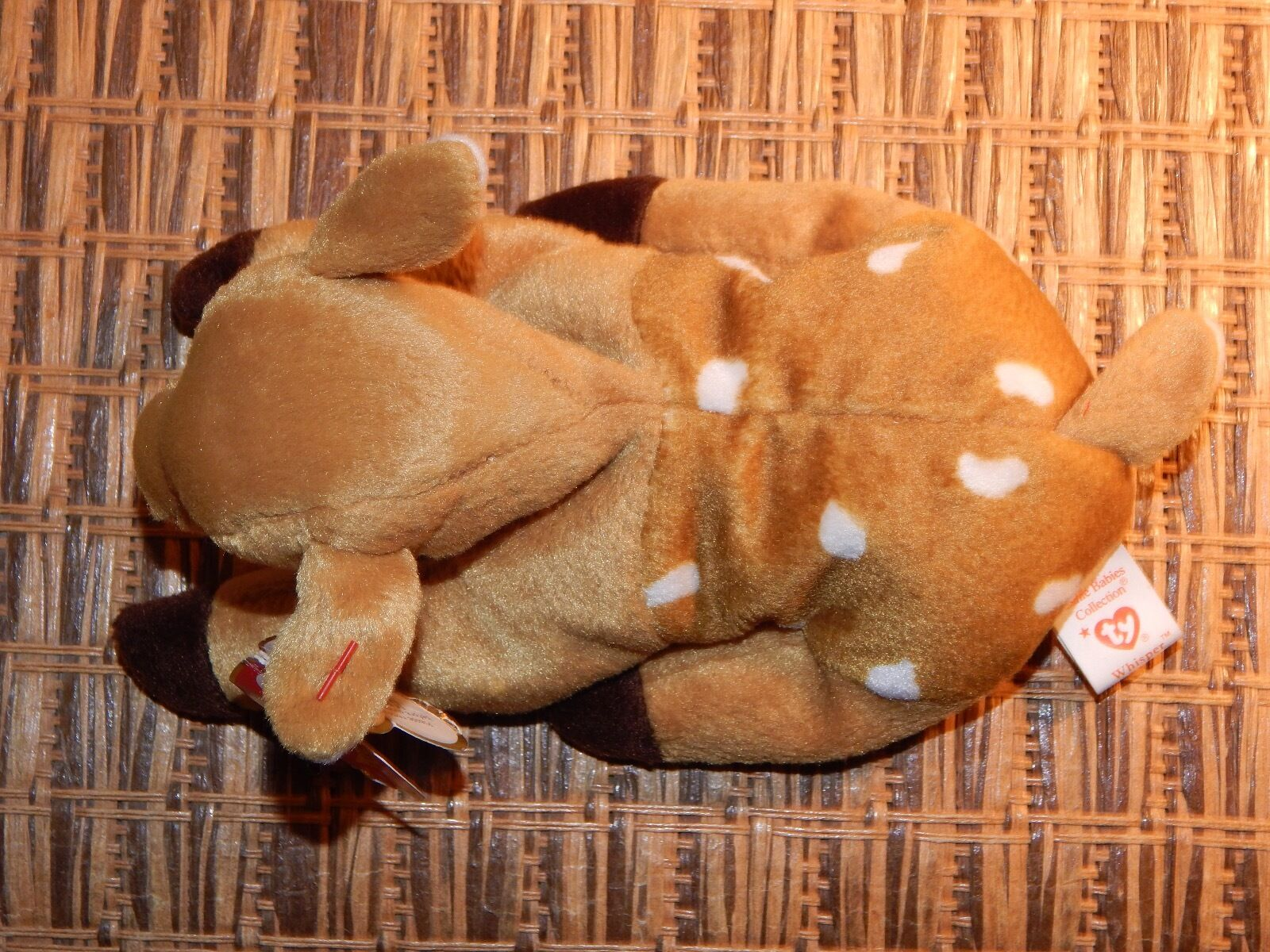 Collectible VERY RARE Ty WHISPER Beanie Baby ERROR Hang Hang Hang Tag 1997 - Tush Tag 1998 8287ee