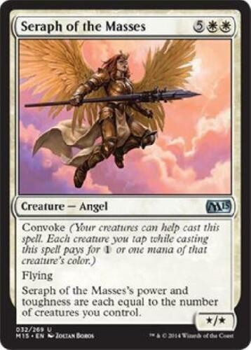 6x Seraph of the Masses new Magic 2015 M15 MTG