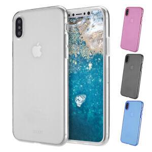 Ultra-Slim-Case-iPhone-X-TPU-Schutz-Huelle-Silikon-Soft-Schale-Cover-Clear-Folie