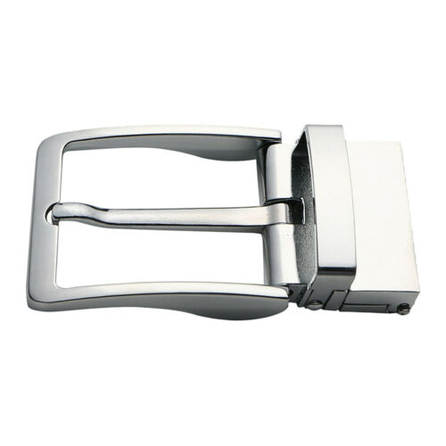 Metal Reversible Belt Buckle Leather Belt Replacement Solid Belt Buckle