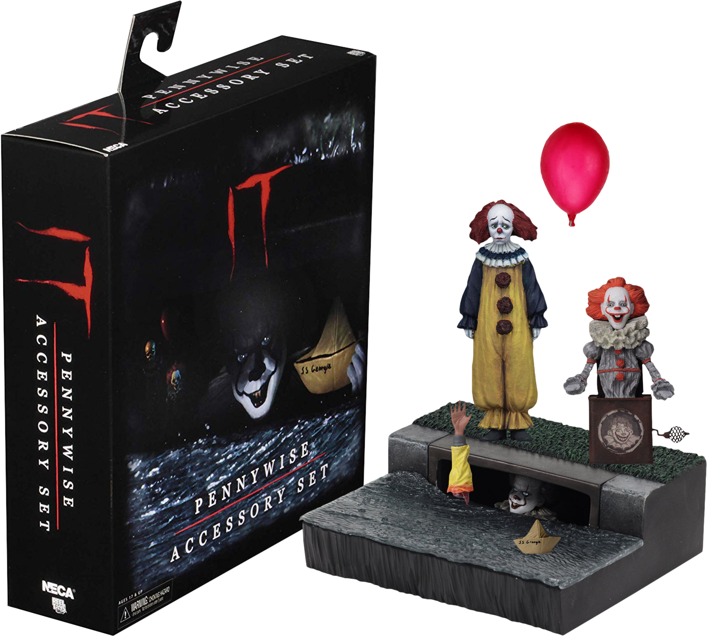 It (2017) - Pennywise 18 cm Scale Accessory Pack Action Figure