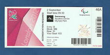 Orig.Ticket   Paralympics LONDON 2012 - SCHWIMMEN  02.09. / mit 14 Finals !! TOP