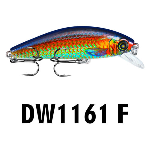1PC Floating Minnow Fishing Lure 8cm//10.5g Topwater Swimbait 6# Hook Bass Tackle