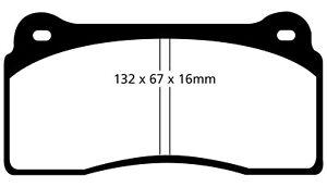Disc Brake Pad Set-EBC Redstuff Ceramic Low Dust Brake Pads Front EBC Brake
