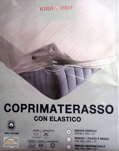 100/%cotone Details about  /SALDI x chiusura negozio COPRIMATERASSO 1 piazza