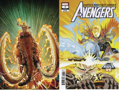 AVENGERS #7 Main /& Cosmic Ghost Rider VAR Set 9//5 Same Low Shipping for Any QTY!
