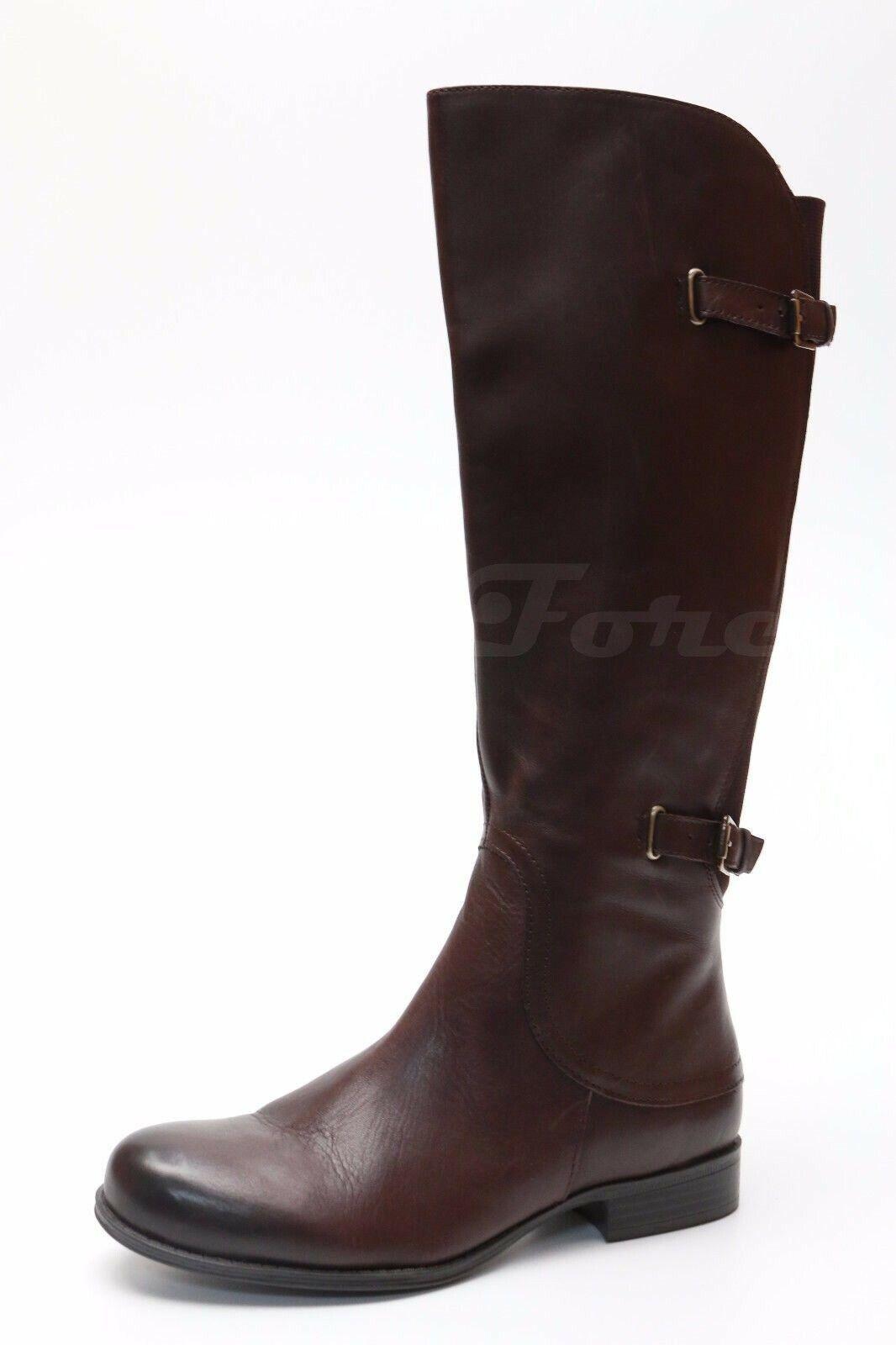 NATURALIZER JAMISON Brown Leather Knee High Boots Sz. 8 US 6 UK 39 EU