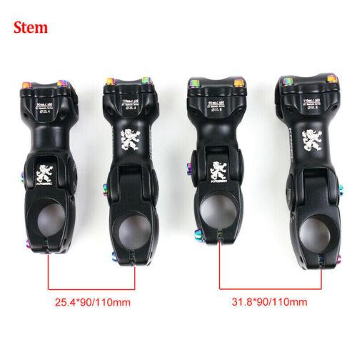 Carbon Handlebar MTB Bike 25.4//31.8mm Rise//Flat Bar AL Adjust Stem bicycle Parts
