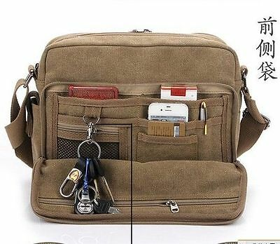 Men's Vintage Canvas Shoulder Messenger Bag Tool School Sling Bag Satchel 1097