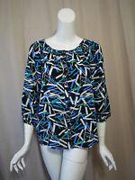 Yumi Kim Anthropologie 100% Silk Print Top Blouse Size M