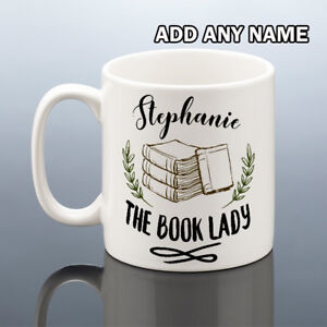 BOOK-LADY-Mug-Personalised-Birthday-Gift-Her-Books-Mothers-Day-Reading-Mum-Women