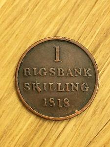A4 - 1 Rigsbank Skilling -1818-Danmark Dänemark-1/96 Rigsbank Daler -Frederic VI - <span itemprop='availableAtOrFrom'>Eitleshof, Deutschland</span> - A4 - 1 Rigsbank Skilling -1818-Danmark Dänemark-1/96 Rigsbank Daler -Frederic VI - Eitleshof, Deutschland