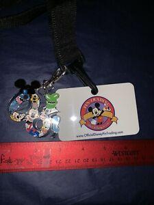 DISNEY-Pin-Trading-LANYARD-MEDAL-2006-Walt-Disney-World-MICKEY-amp-Gang-RaRe