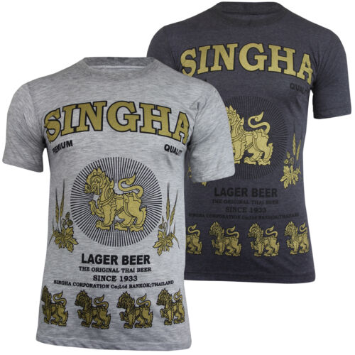 New Mens Singha Lion of Asia Thai Beer Lager Cotton T-ShirtRare UK Import