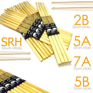 Drum-Sticks-5A-5B-7A-2B-SRH-Drumsticks-Maple-High-Quality-Wood-tip-Pro-Feel