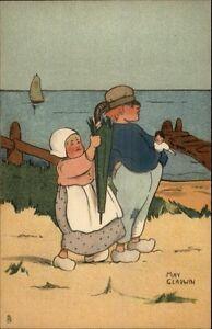 Raphael-TUCK-Little-Hollander-Dutch-Kid-Series-6085-May-Gladwin-Postcard-1