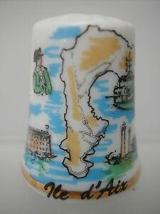 Dé à coudre Thimble - ÎLE D'AIX - CARTE NAPOLEON PHARES FORT BOYARD BATEAU Nb5cKPbQ-09104754-729165661