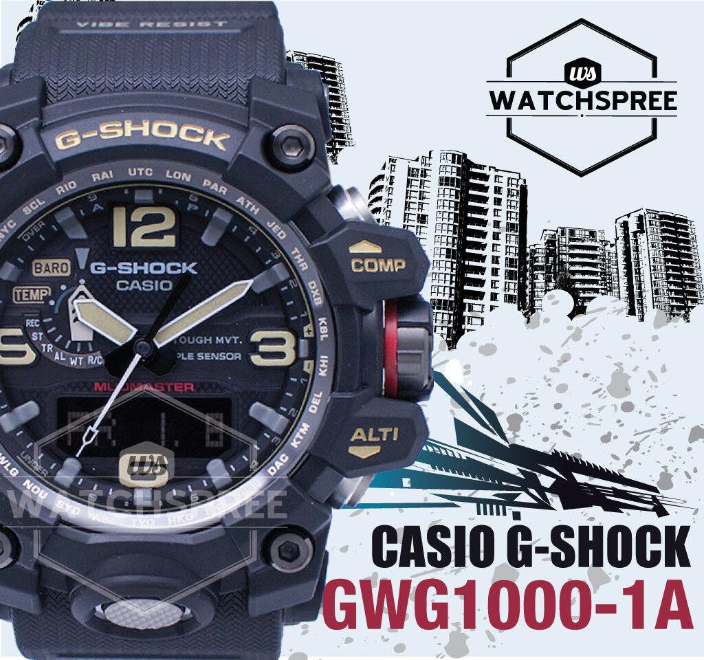 Casio G Shock Gwg 1000 1a Mudmaster Mens Watch Mb6 Triple Sensor Ebay Gshock Master Stock Photo