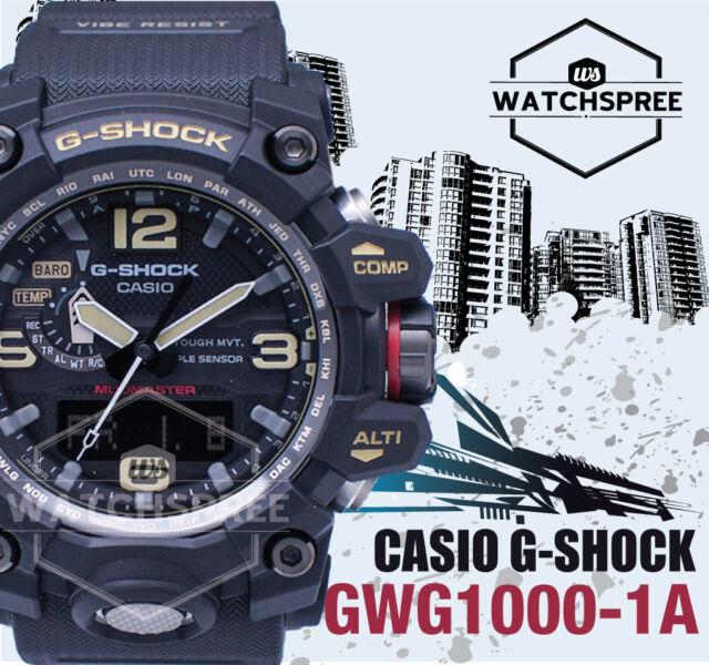 Casio GShock Mudmaster Triple Sensor Watch GWG1000-1A GWG-1000-1A AU FAST & FREE