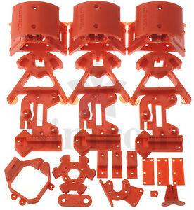 Kossel-Mini-Plastic-Printed-Parts-for-RepRap-Rostock-Delta-3D-Printer-PLA-Red