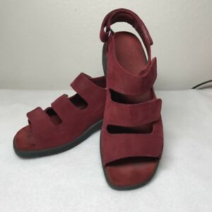 ecco red sandals