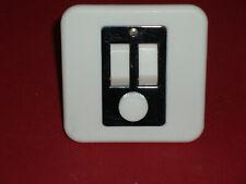 101-65000 interrupteur NIKO double poussoir ouvert ou normalement fermé white
