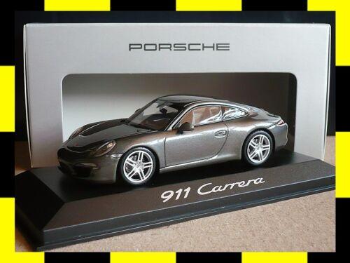 Porsche 911 991 carrera coupé achatgrau Minichamps pma 1:43 traficantes Edition