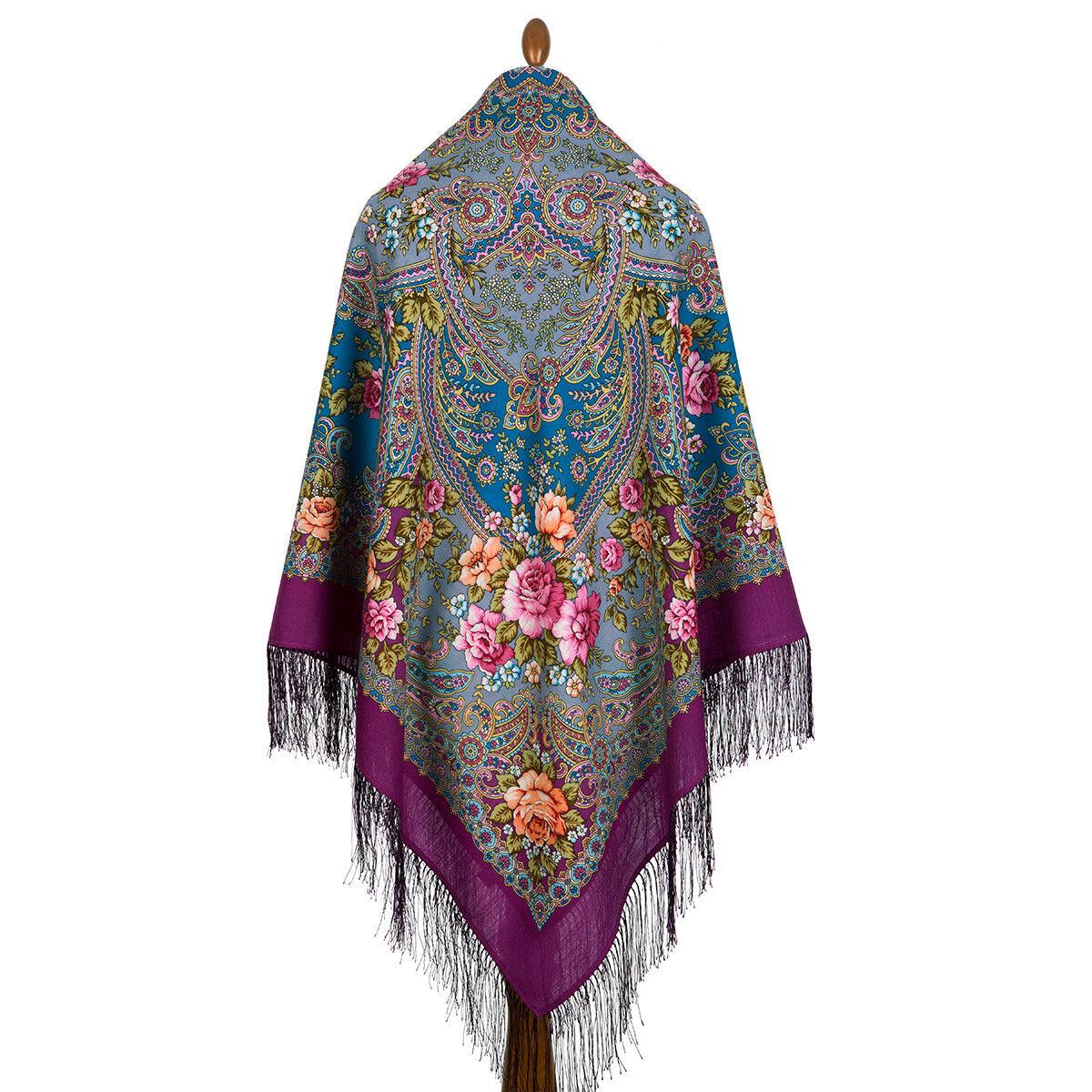 Pawlow Posad Pavlovo Posad russischer Schal-Tuch Tradition146x146 Wolle 1755-15 | Deutschland Outlet  | Clever und praktisch  | eine breite Palette von Produkten