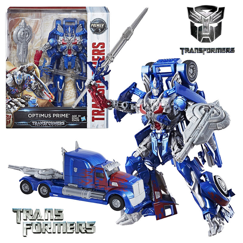 LARGE 10' TRANSFORMERS 5 THE LAST KNIGHT LEADER CLASS CLASS CLASS OPTIMUS PRIME PREMIER TOY 43b5e6