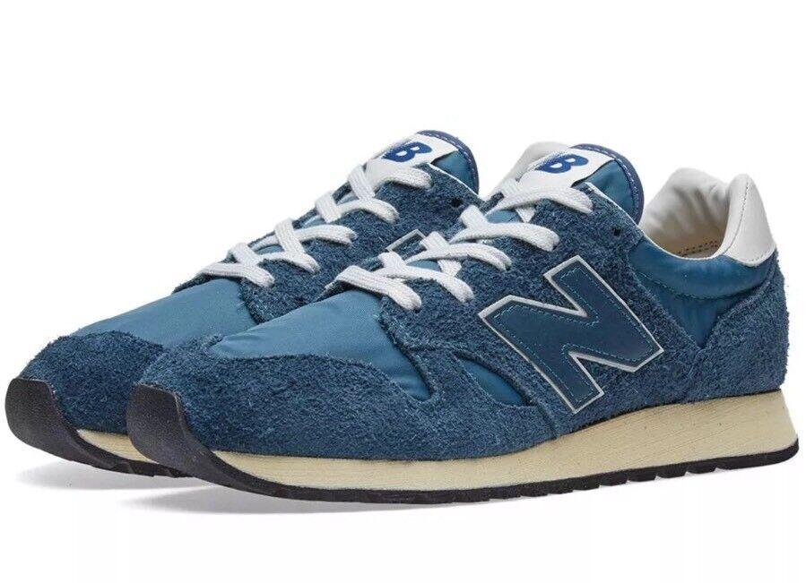 New Balance U520AB Mens Sz 7.5 Hairy Suede Vintage Mallard bluee Unisex NEW