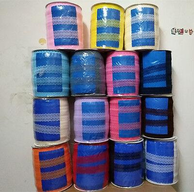 DIY beautiful 400 yards bilateral lace ribbon ribbons. Lace Trim Ribbon