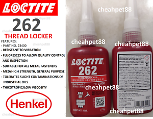LOCTITE 262 High Strength Thread Locker 50ml With QR Code - 1 Bottle