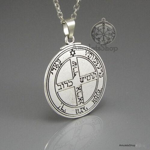 6x roi Salomon Seals amulettes avec activation sort et collier
