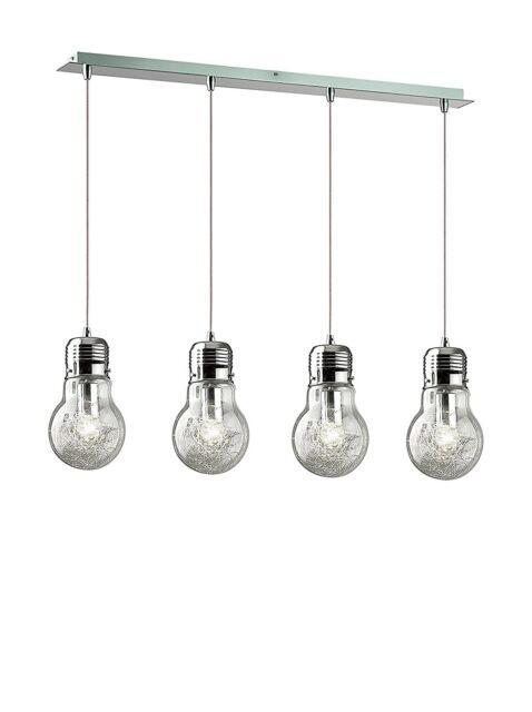 Ideal Lux Luce Max Sb4 Lampada A Sospensione A Barra 4 Luci cucina soggiorno